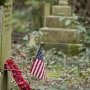 American flag, Highgate Cemetery