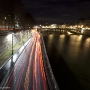 The river Seine at night, Paris