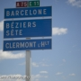 First sign to Barcelona, near Clermont l\'Herault